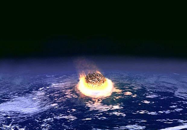 Падение метеорита.