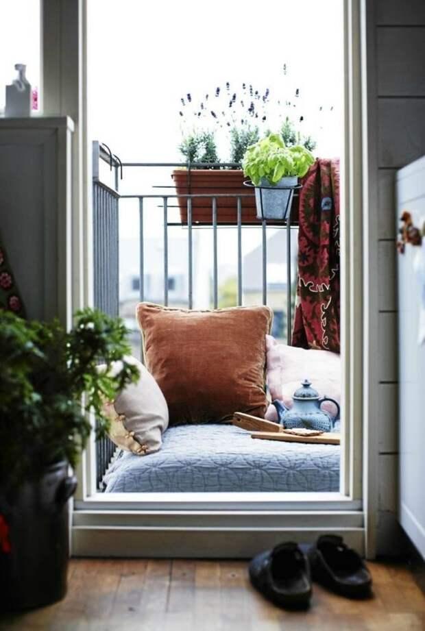 А почему бы не вздремнуть на балконе, после чашечки чая? дизайн, креатив, своими руками