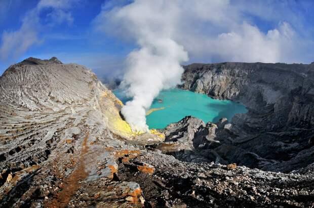 20. Иджен, Восточная Ява, Индонезия в мире, озеро, природа