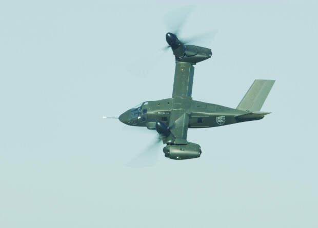 Конвертоплан V-280 испытали низкоскоростной маневренностью