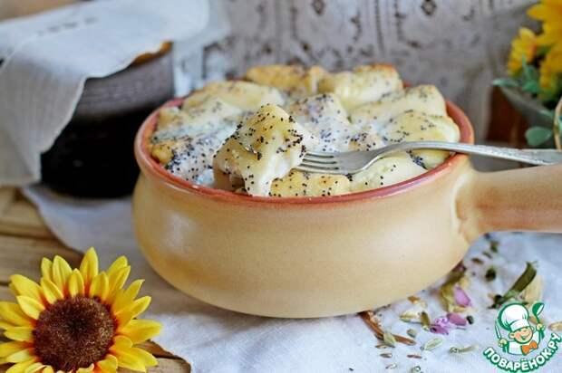 Очень вкусные Мини блинчики с творогом в сметанной заливке