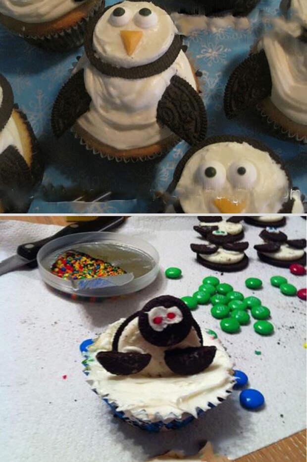 Кексы-пингвинчики еда, ожидание, провал, реальность