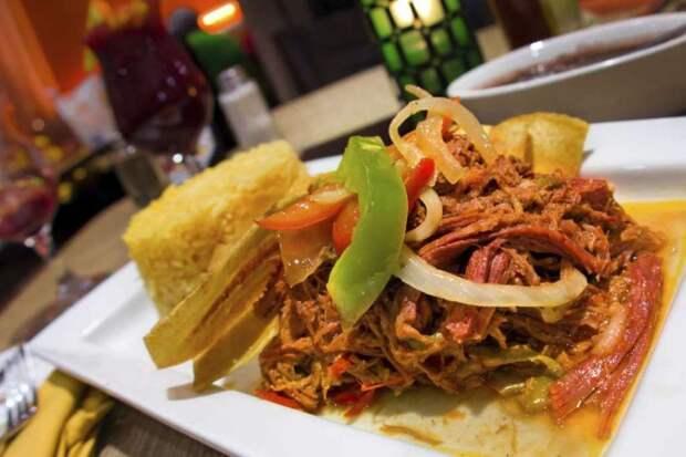 Ropa vieja (Куба) блюдо, еда, туризм