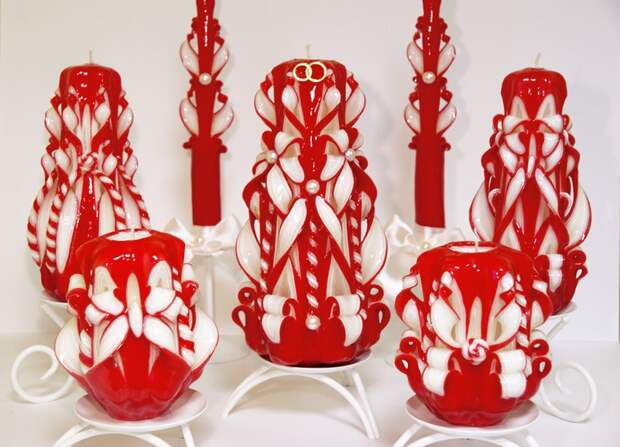Резные свечи - искусство ручной работы