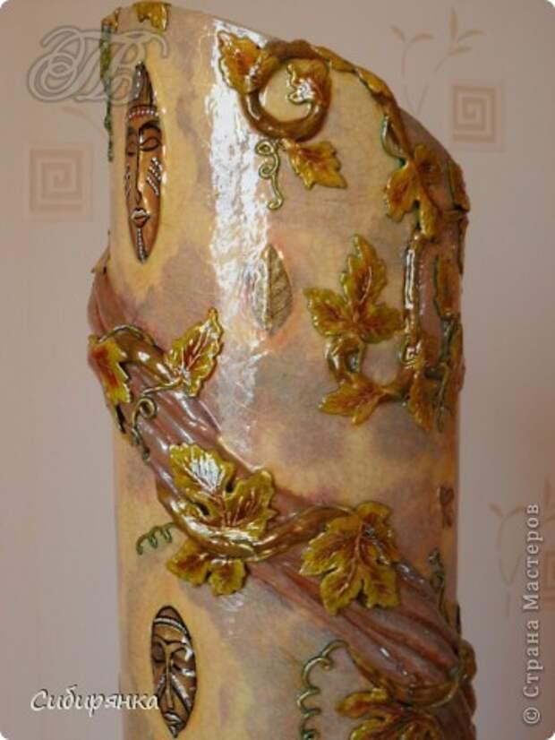 Добрый день, Страна Мастеров!!! Как и обещала, покажу некоторые промежуточные фотографии  процесса изготовления напольной вазы с африканскими мотивами. . Фото 21