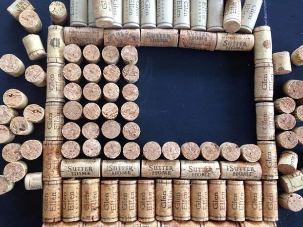 картинка поделки из винных пробок, делаем панно на стену