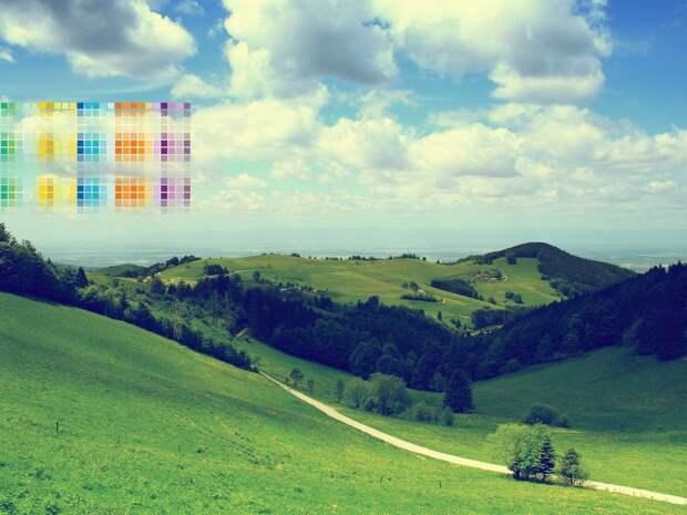 Смена сезонов влияет на восприятие цветов человеком
