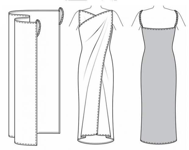 Платье из куска ткани