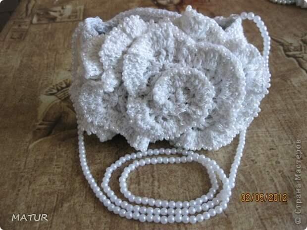Вязание крючком - Сумочка-цветок