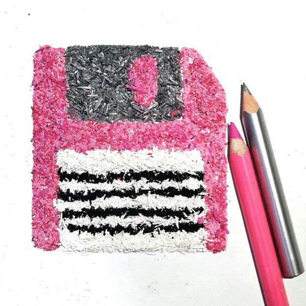 Рисунки карандашной стружкой — проект Меган Маконахи