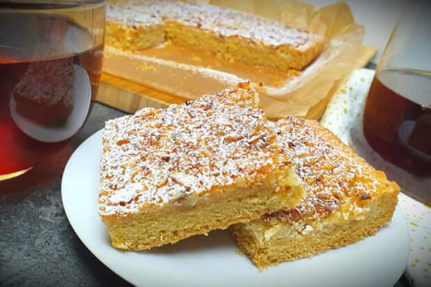 Фото к рецепту: Лимонный пирог с орехами