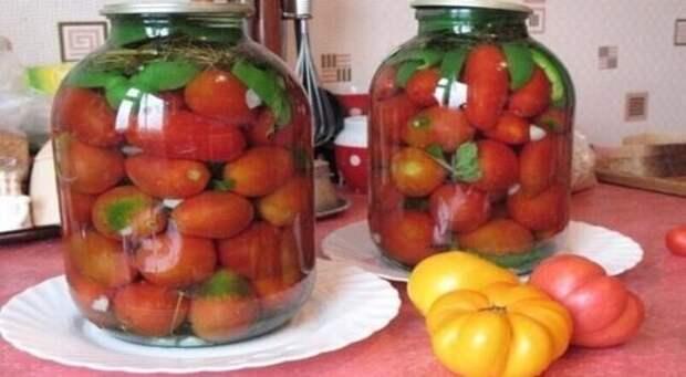 Рецепт консервированных томатов без уксуса