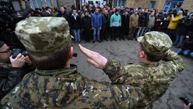 Мобилизация в украинскую армию. Архивное фото