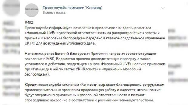 """Владельцев канала """"Навальный Live"""" накажут за призывы к беспорядкам и клевету"""