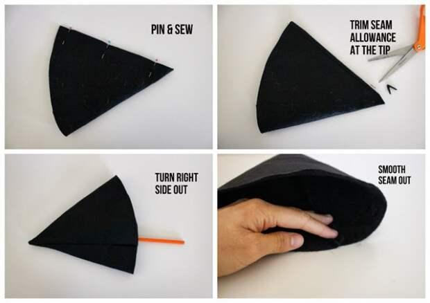 Как сшить шляпу ведьмы (Diy)