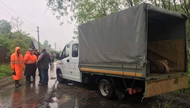 Более 30 единиц дорожной техники задействовали в ликвидации подтоплений в Подмосковье