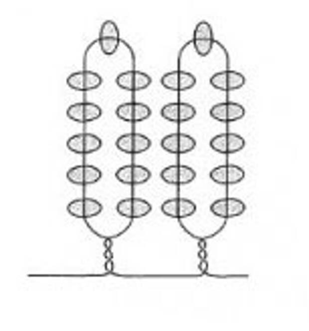 техника плетения,схема петельного плетения