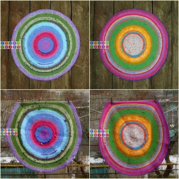 фото примеры вязаных ковриков крчюком