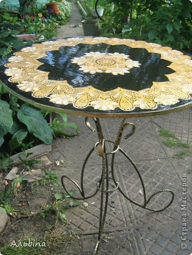 Декорирование круглого столика виниловыми салфетками (6) (360x480, 208Kb)