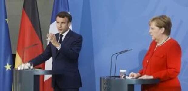 На встрече Меркель и Макрона будет обсуждаться Украина
