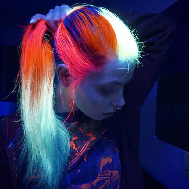 7.  вечеринка, волосы, краска для волос