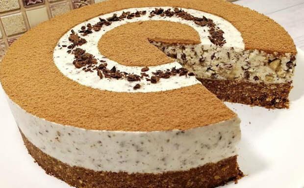Йогуртный торт без сковороды и печки: просто собираем и посыпаем шоколадом