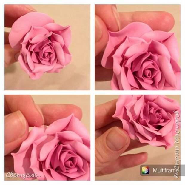 Мастер-класс Флористика искусственная Лепка МК розы из ХФ как и обещала Фарфор холодный фото 21