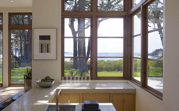 Угловое окно на кухне