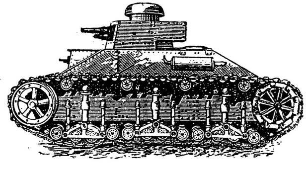 На рисунках – Т-19 (в верху) и Т-19 «гибридный» военная техника, военное, история, много букв, танки, танки СССР, техника, факты