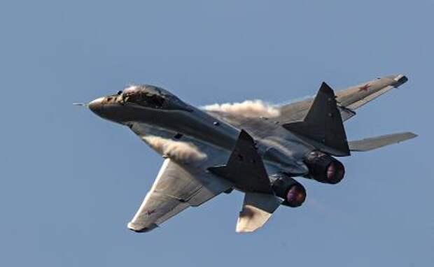 На фото: российский многофункциональный фронтовой истребитель МиГ-35