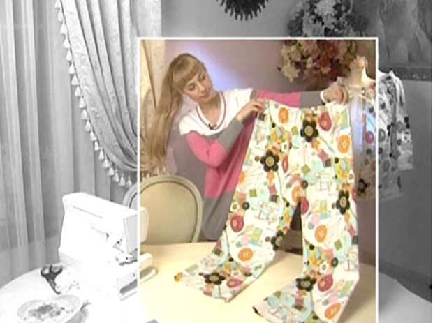 Ориентировочная выкройка пижамных брюк