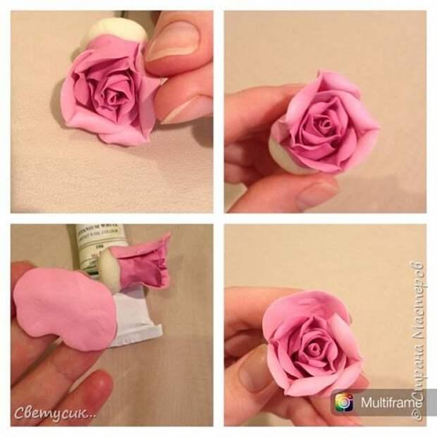 Мастер-класс Флористика искусственная Лепка МК розы из ХФ как и обещала Фарфор холодный фото 14