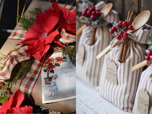 Упаковка подарков к Новому году