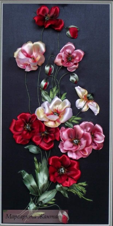 Вышивка лентами Маргариты Жантаевой