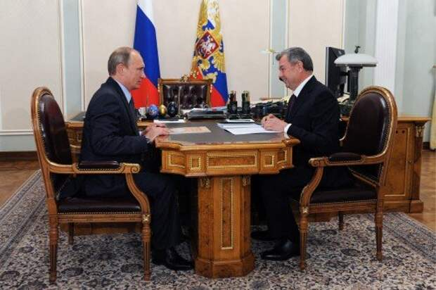 President Putin meets with Kaluga Region Acting Governor Artamonov