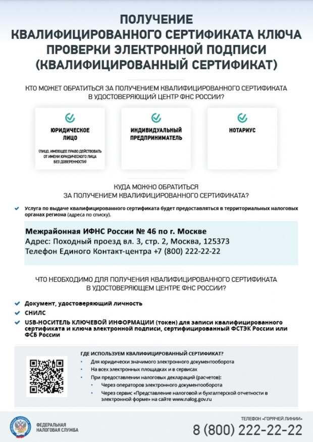 Инструкция: как получить квалифицированный сертификат ключа проверки электронной подписи