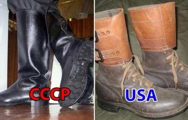 Была ли советская армейская обувь хуже той, что делали для своих бойцов в США