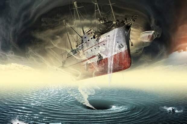 Свою печальную известность Бермудский треугольник приобрел еще в 1840 году, когда недалеко от порта Нассау – столицы Багамских островов – было обнаружено французское парусное судно «Розали», находившееся в дрейфе. На нем были подняты все паруса, имелась вся необходимая оснастка, но сама команда корабля отсутствовала. Это показалось очень странным. После осмотра было установлено, что находится судно в прекрасном состоянии, не имеет никаких повреждений, груз его цел. Но куда исчез экипаж? Никаких записей, проясняющих суть дела, в судовом журнале не обнаружили. Дальнейшей проверкой, правда, было установлено, что судно называлось не «Розали», а «Россини». Во время плавания возле Багамских островов оно село на мель. Команда покинула его на шлюпках, а во время прилива корабль подхватили волны и унесли в открытое море. Стершаяся надпись на борту привела к ошибке, и потому его назвали «Розали».  Однако не многие поверили в эту реальную историю, и почему-то устоялась другая точка зрения: «Розали» – судно-призрак, его причислили к когорте «Летучего голландца». Появилась даже другая «достоверная» история о том, как оно якобы попало в какой-то странный водоворот, где действуют явно неземные силы. При этом команда отправилась на дно, а судно осталось без управления, и потому участок моря между Бермудскими островами, Майами на Флориде и Пуэрто-Рико, где оно было обнаружено, отнесли к загадочному и опасному треугольнику. Попав в него, судно могло испытать разные и труднообъяснимые превратности судьбы, опасные не столько для судовождения, сколько для команды. Так началась история Бермудского треугольника. Особой страницей в ее летописи стало удивительное происшествие с бригантиной «Мария Целеста» водоизмещением 103 тонны. Ее, как и «Розали», обнаружили целой и невредимой, но опять… без команды. Появилось еще большее количество легенд, преданий и явных фантазий. Все случившееся с «Марией Целестой» ученые не могут объяснить до сих пор. Попытаемся немного реконструировать события тех 