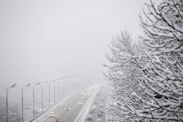 Минтранс Московской области предупредил о сильном снегопаде