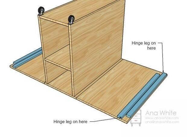 Как сделать стол для раскроя и шитья: рабочее место швеи 5