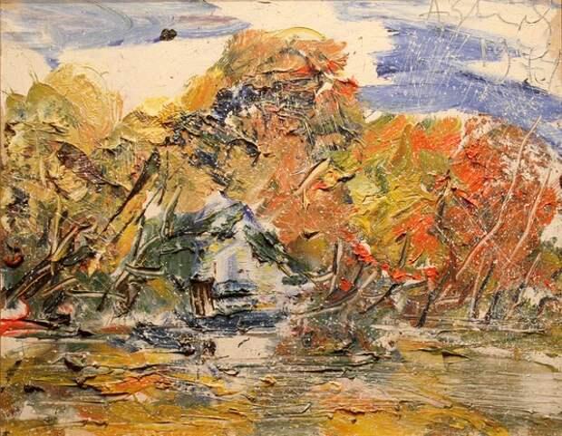 Фото Анатолий Зверев.Осенний пейзаж.1974 г.