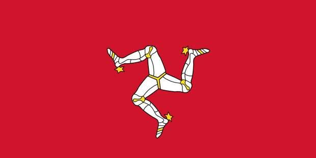 Флаг острова Мэн.