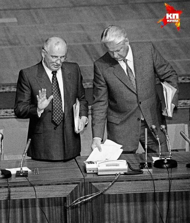 Во время конфронтации с Ельциным, Михаил Горбачев как-то заявлял: «…потенциал его как политического деятеля все же невелик» Фото: Центр Ельцина.