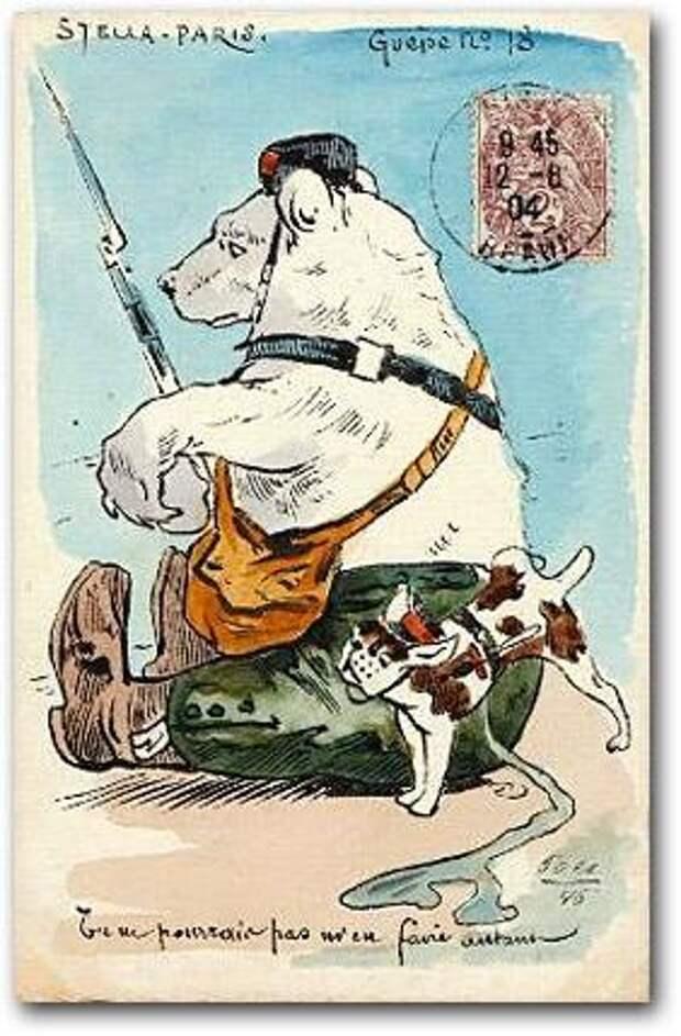 1904-1905 Франция медведь, россия