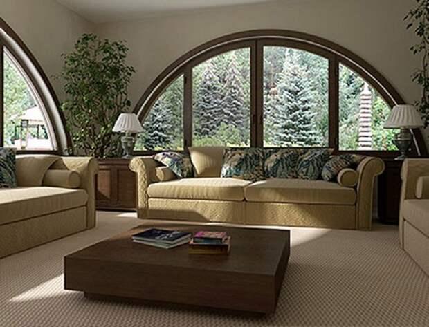 арочные окна в интерьере