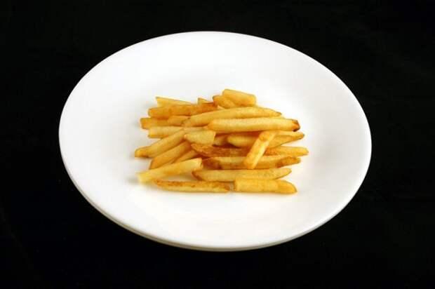 Картофель фри — 73 г диета, еда, калории