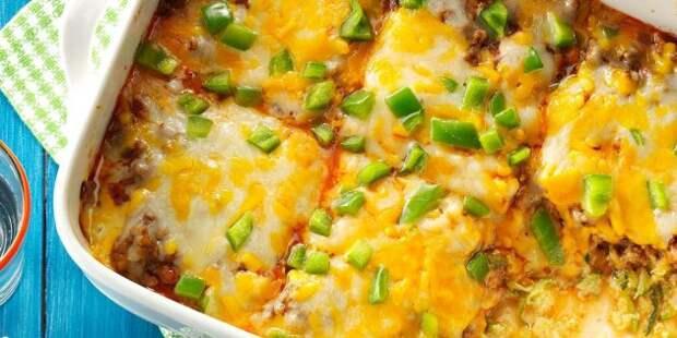 Кабачки в духовке, рецепты: Запеканка с кабачками, говядиной, сыром и болгарским перцем