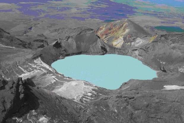 29. Кратерное озеро Руапеху, Национальный парк Тонгариро, Новая Зеландия в мире, озеро, природа