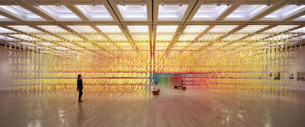 Цифровые дебри: необычная бумажная инсталляция в токийском Национальном центре искусств