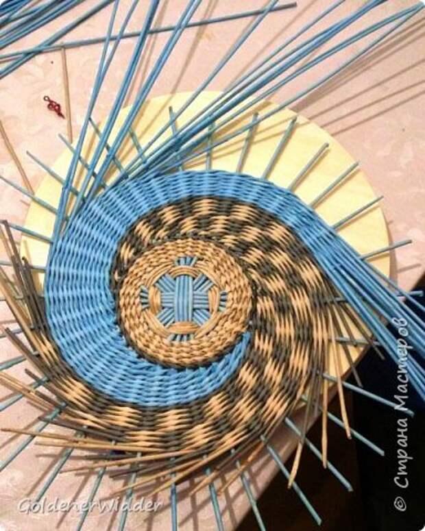 Мастер-класс Плетение Панно 40 см Спиральное плетение Бумага газетная Трубочки бумажные фото 21